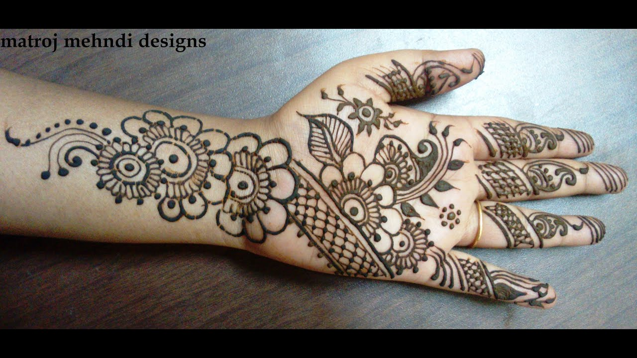 Beautiful Mehndi Hands Pics : Beautiful mehndi design for hands how to do stylish henna