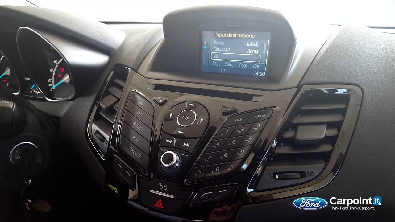 Il Navigatore Su Ford Fiesta Guide Carpoint Youtube