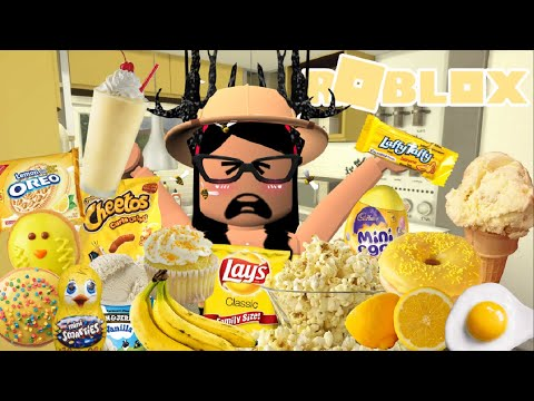 I Spent 24 Hours In Someones House Roblox Bloxburg Youtube - Eating Only Yellow Food For 24 Hours Roblox Bloxburg