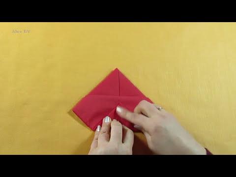 Servietten falten. Tischdekoration für Ostern . Hase .