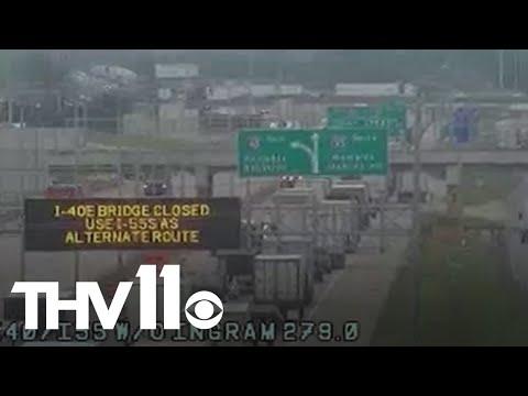 I-40 bridge over Mississippi River closed after inspectors find crack