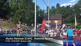 Alysha Newman Canadian Pole Vault Record 4.75m