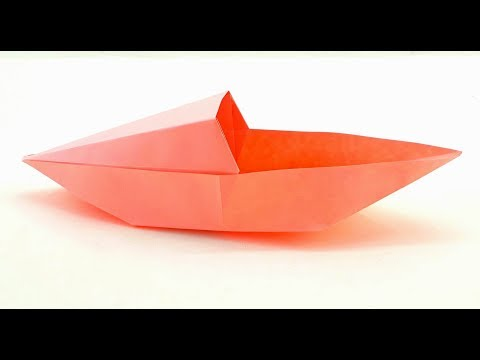 Origami Tutorial - How to make a paper Origami boat sailboat - Origami boat