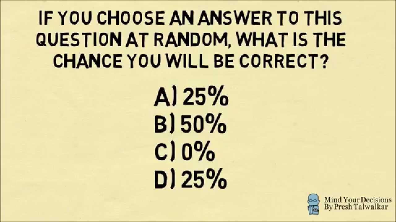 Hardest Multiple Choice Question Ever!   YouTube