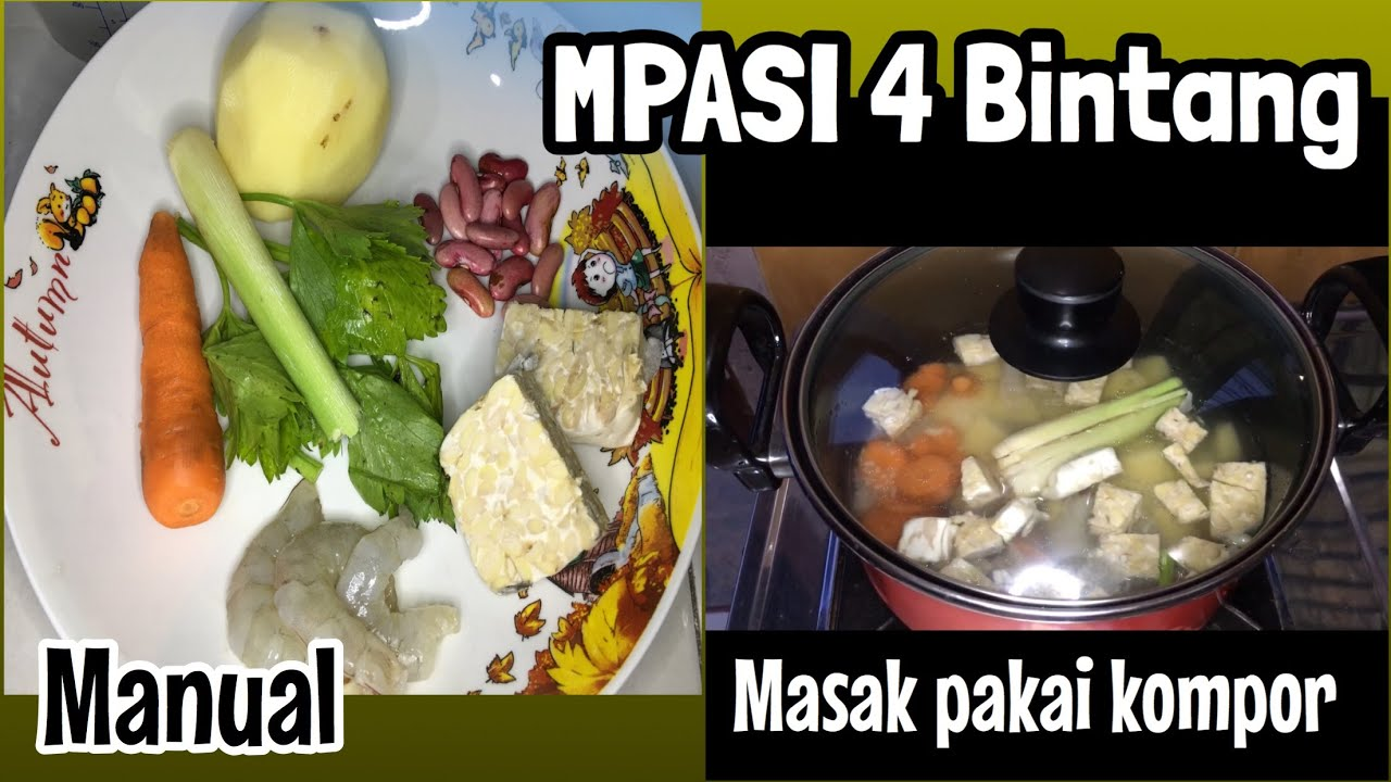Membuat Mpasi Menu 4 Bintang Manual Youtube
