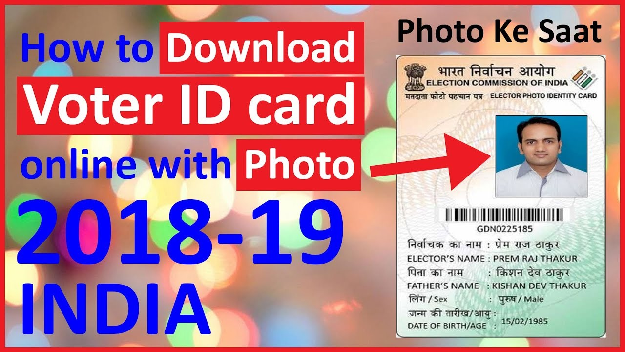 "How to {""download voter id""} card online – {""eci officials."