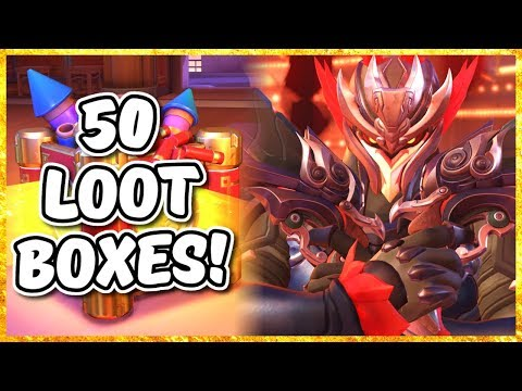 Overwatch - OPENING 50 LUNAR NEW YEAR LOOT BOXES