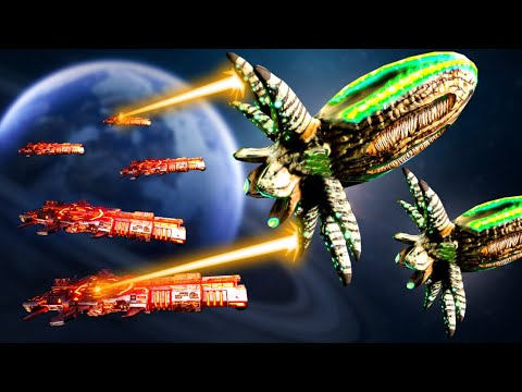 Invasion!  GIANT Squid UFOs Attack Our Planet in Stellaris!