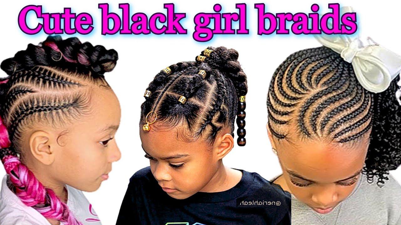 Easy Black Girl Braids Little Girl Hairstyles Black Youtube