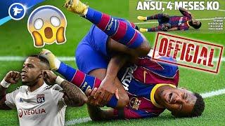 OFFICIEL : Ansu Fati absent 4 mois, le Barça insiste pour Memphis Depay | Revue de presse