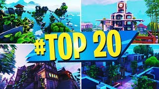 TOP 20 BEST CREATIVE MAPS In FORTNITE (With CODES)