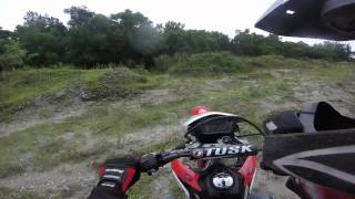 DIRT BIKE IN THE MUD WOODS SAND AND SOME TRESPASSING IN WEST PALM BEACH FLORIDA