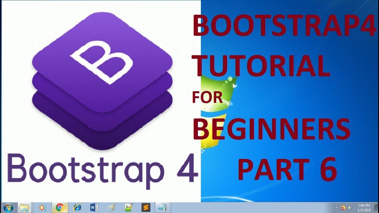 BOOTSTRAP 4 TUTORIAL FOR BEGINNERS PART 6 (progress bar design) - YouTube