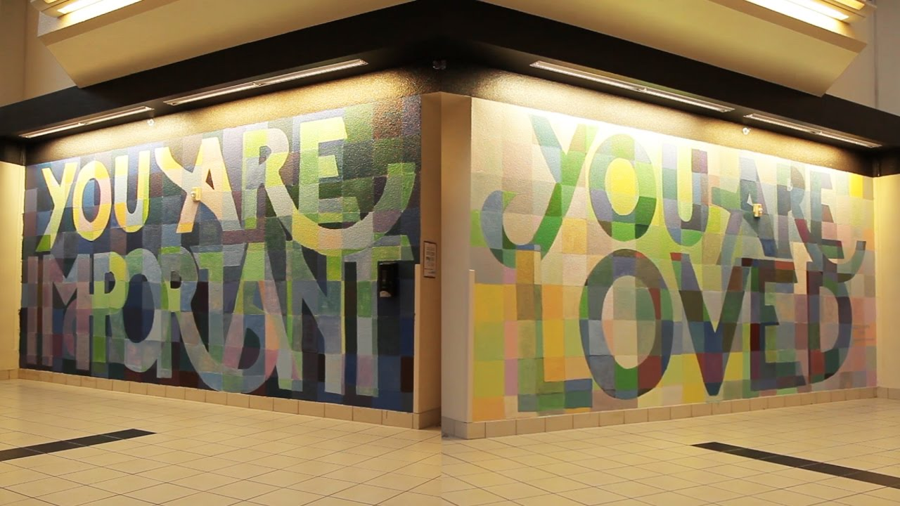 Clark high school you are loved mural time lapse youtube for Mural for school