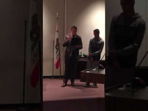 Tito Mercado received Recognition from the Mayor and City of Pomona