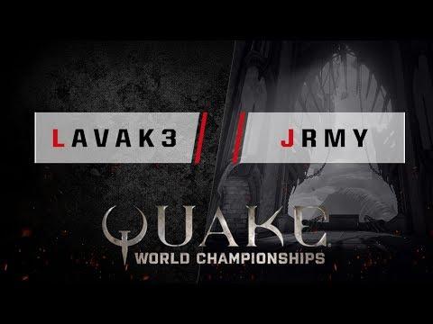 Quake - lavak3 vs. jrmy [1v1] - Quake World Championships - Ro16 NA Qualifier #1