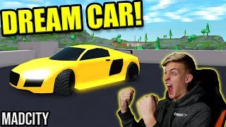 BUYING MY DREAM CAR IN MAD CITY!! (Roblox Mad City)