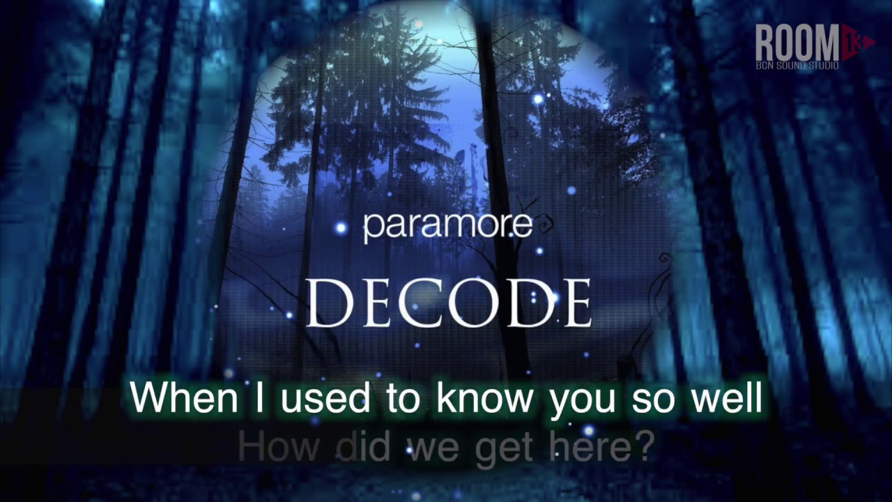 Paramore-decode [karaoke/instrumental/download] youtube.