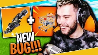 ON TESTED THE NEW CADDIE BUG - MINIGUN ON FORTNITE BATTLE ROYALE !!!