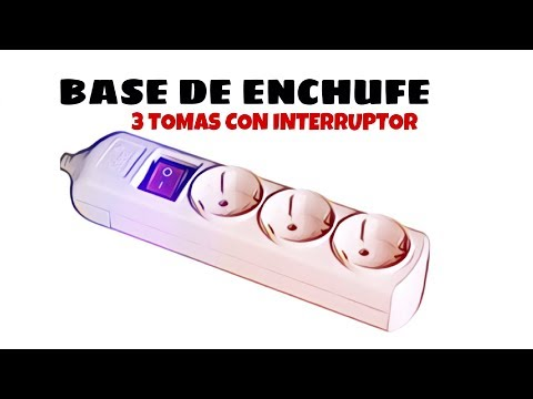 Video de Base de enchufe 3 tomas con interruptor  Blanco