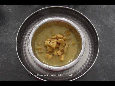Yam in curry (Elephant root yam/Suran/Jimikand) Vegetarisch