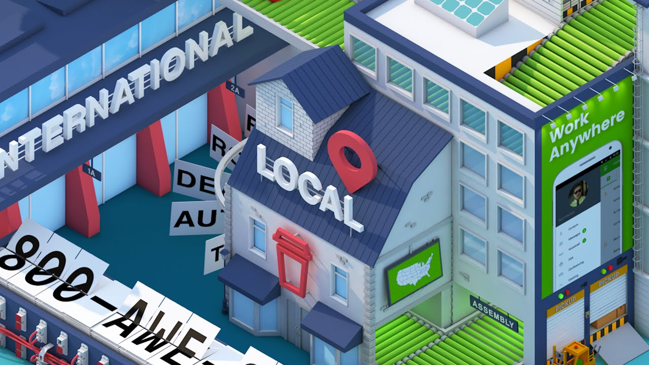 Isometric Low Poly City - Cinema4D Animation