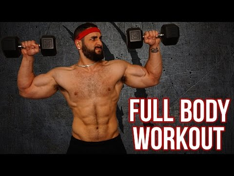 15-Minute Home Full Body Workout With Dumbbells (Killer Total Body Muscle Building Workout!!)