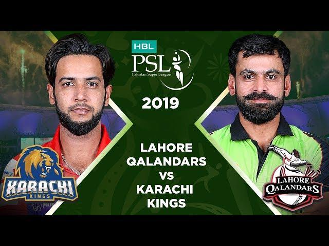 Match 5: Full Match Highlights Lahore Qalandars vs Karachi Kings   HBL PSL 4   2019
