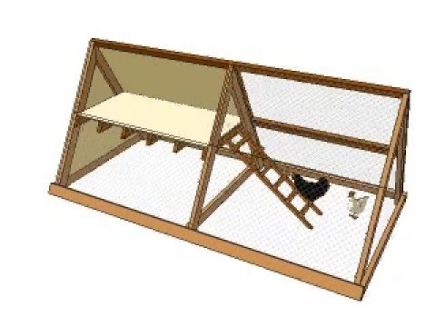 A frame chicken coop plans youtube A frame designs