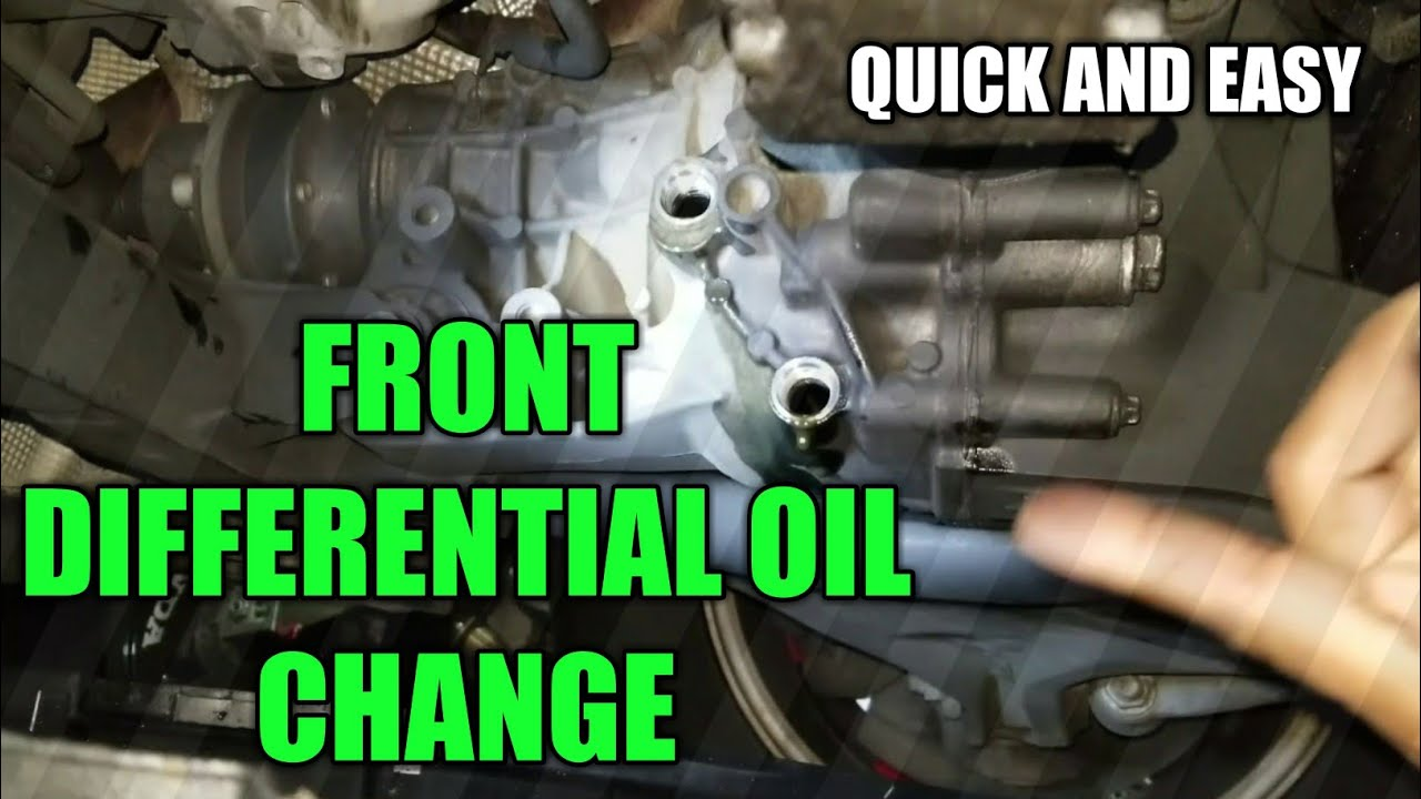 Rear Differential Fluid >> Mercedes Front Differential Oil Change DIY - YouTube