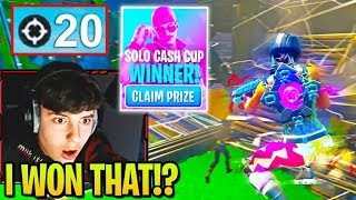 Clix Drops 20 Kills in Solo Cash Cup with Most UNREAL Ending Ever... (Fortnite)