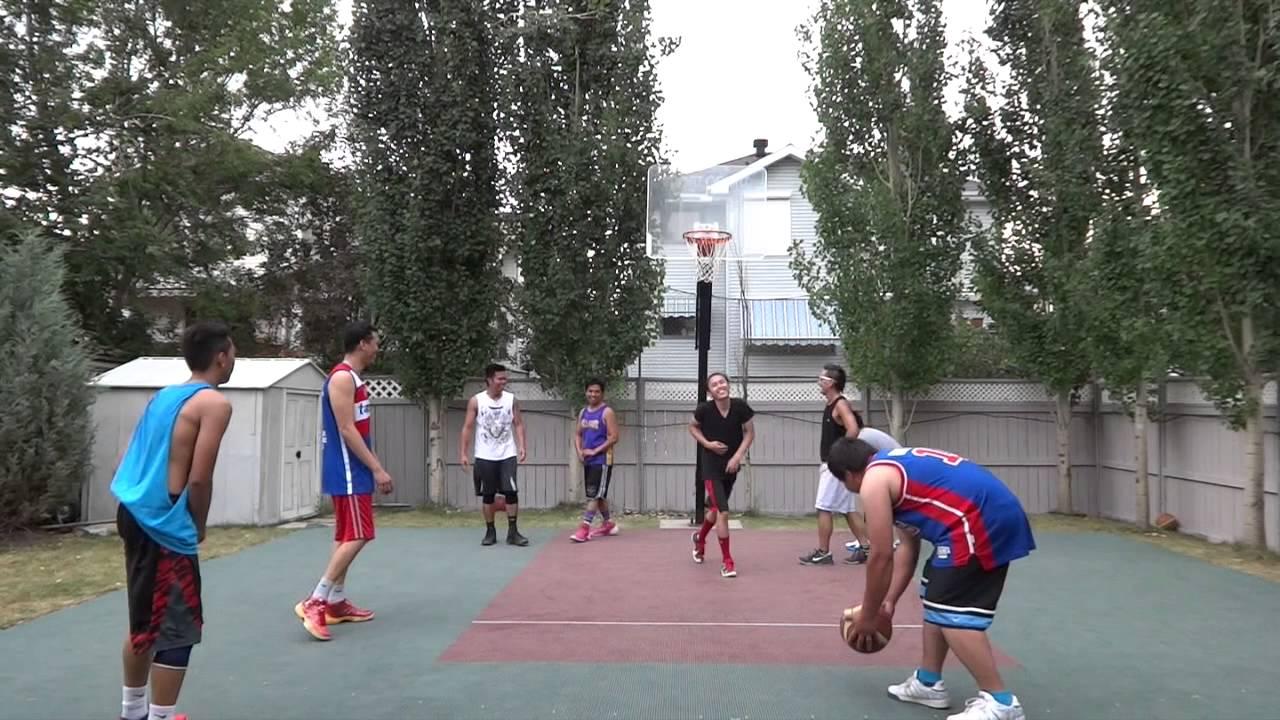 calgary backyard basketball game 9 08 02 2014 youtube