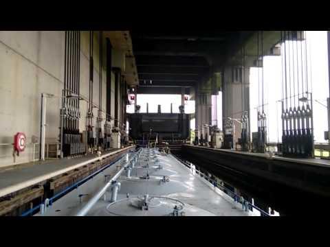 Shiplift at  Strépy-Thiue, Belgium (Time-Lapse version)