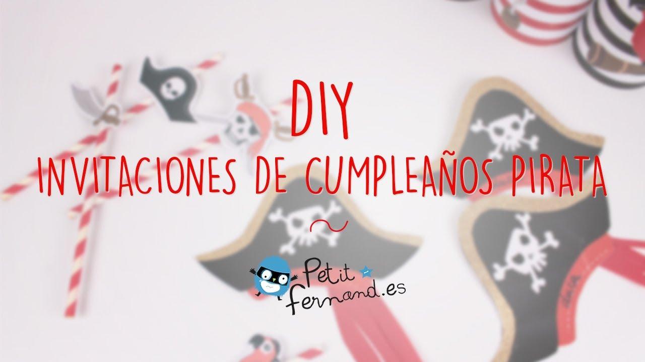 Invitaciones de cumpleaños de Pirata - Petit-Fernand - YouTube