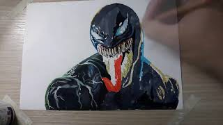 How To Draw Venoms Face