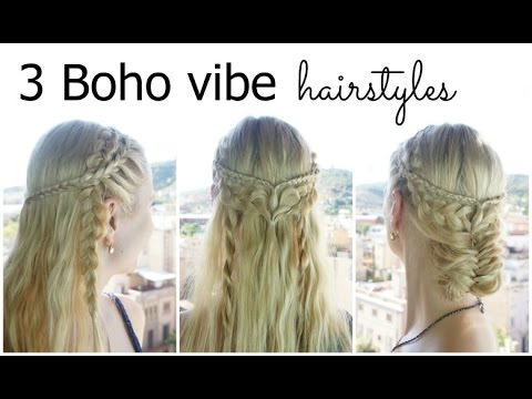 3 quick boho braided hairstyles – how to DIY