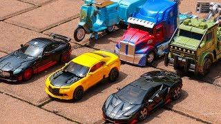 Transformers 5 Six AutoBot Unite OptimusPrime BumbleBee Sqweeks Hound HotRod Drift Transformation