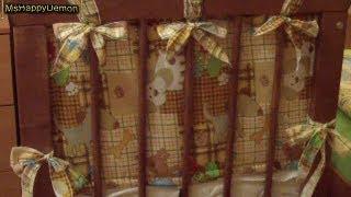 Как сшить бортики в кроватку ребенку.(В этом видео я шью бампер или бортик в кроватку для новорожденного малыша. Материалы: -Бязь 1,5м шириной и..., 2012-10-16T17:20:39.000Z)