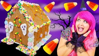 Decorating Halloween Haunted Cookie House DIY Halloween Candy Cookie House Kit KiMMi THE CLOWN