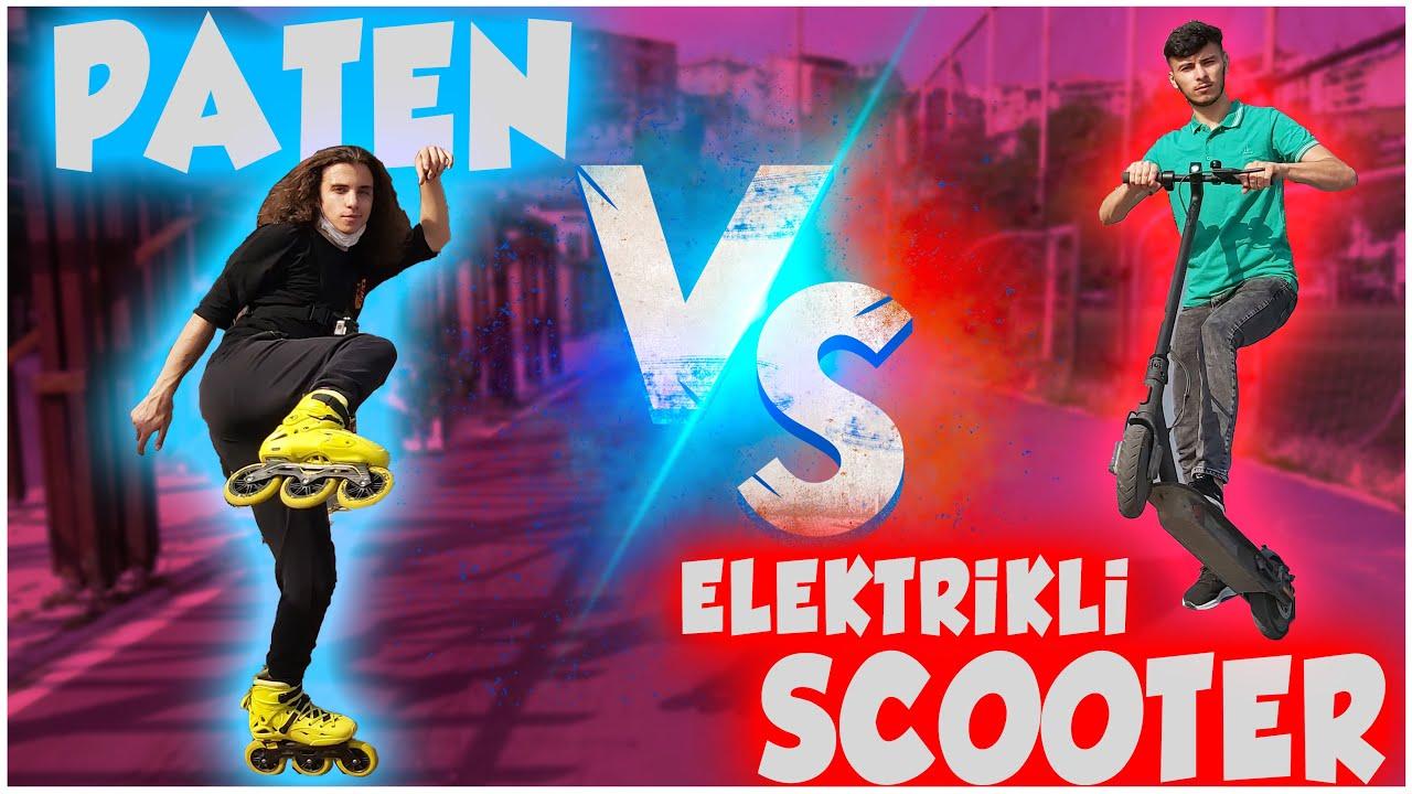 PATEN VS ELEKTRİKLİ SCOOTER | #yarış