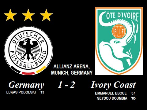Download Germany 1 - 2 Cote d'Ivoire [ONE OF THE ALL-TIME GREAT AFRICAN NIGHTS IN MUNICH]