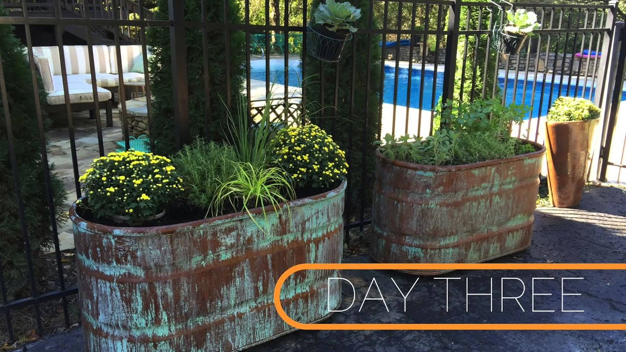 Metal Effects Copper Patina and Rust Containers - YouTube