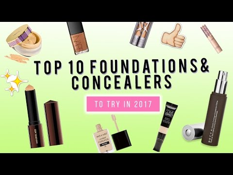 TOP 10 Foundations & Concealers to try in 2017!    KristenLeanneStyle