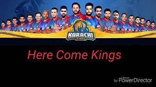 Karachi Kings PSL Anthem