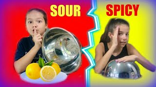 SPICY FOOD VS SOUR FOOD CHALLENGE | SISTER FOREVER