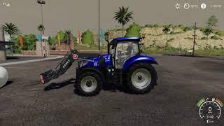 T6 blue power and mahindra retriever farming simulator 19 DLC review