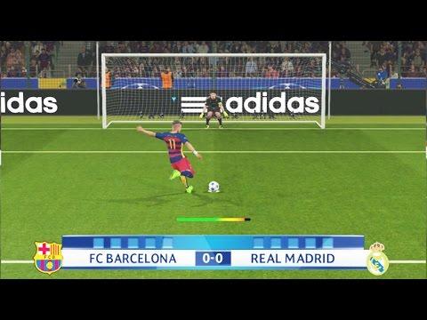 PES 2016 - Penalty Kicks - FC Barcelona Vs Real Madrid - PS4 ...