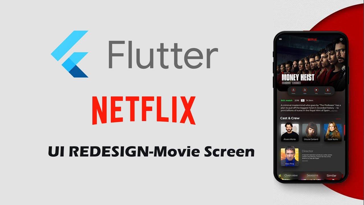 Flutter UI Redesign Netflix Speed Code - Movie Screen