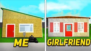 Girlfriend Vs Boyfriend 5x5 House Build Off Challenge In Roblox Bloxburg