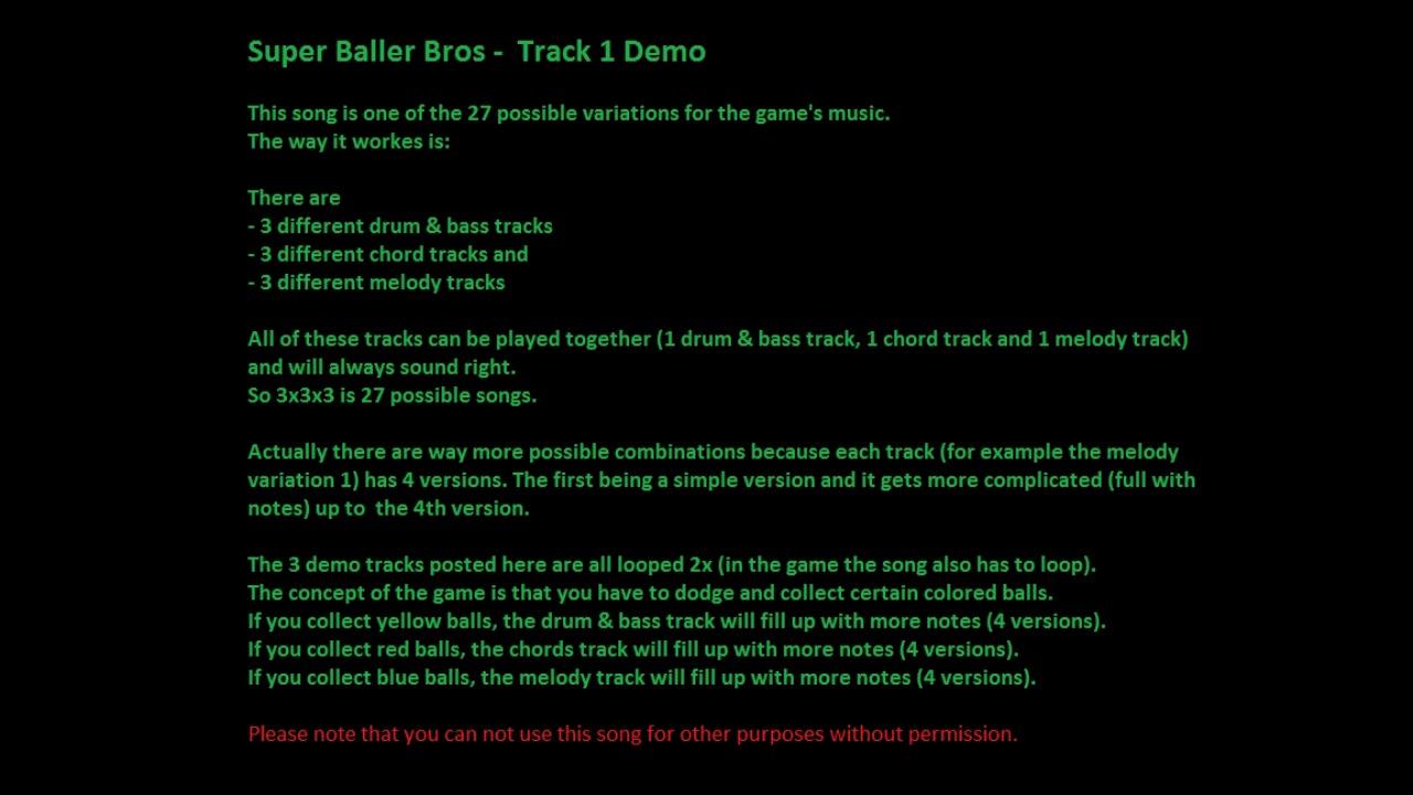 242b469331 Super Baller Bros - Track 1 Demo - YouTube